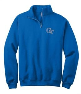 Royal Quarter Zip Sweat shirt