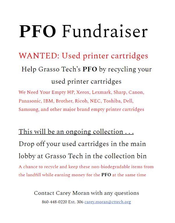 PFO Fundraiser - Used Printer Cartridges