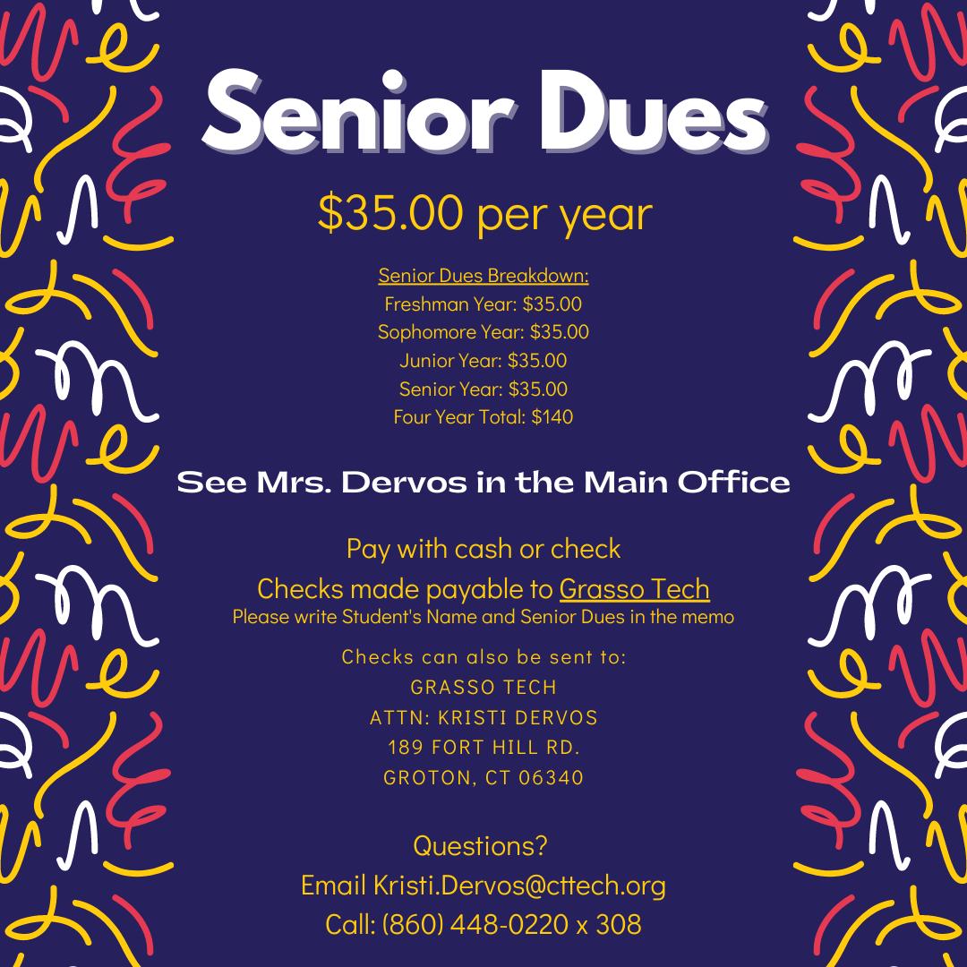 Senior Dues Notice
