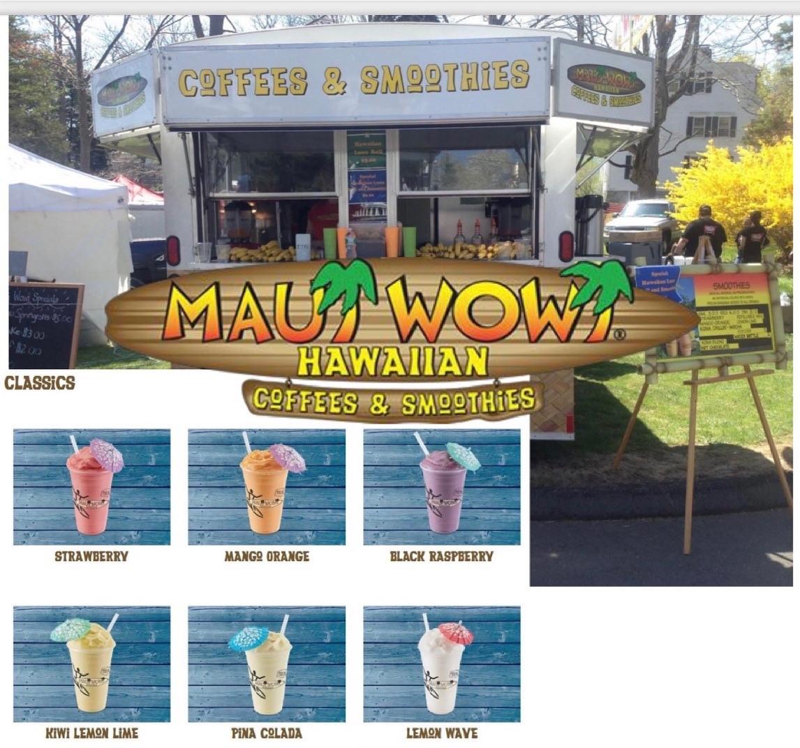 Maui Wowi Truck menu